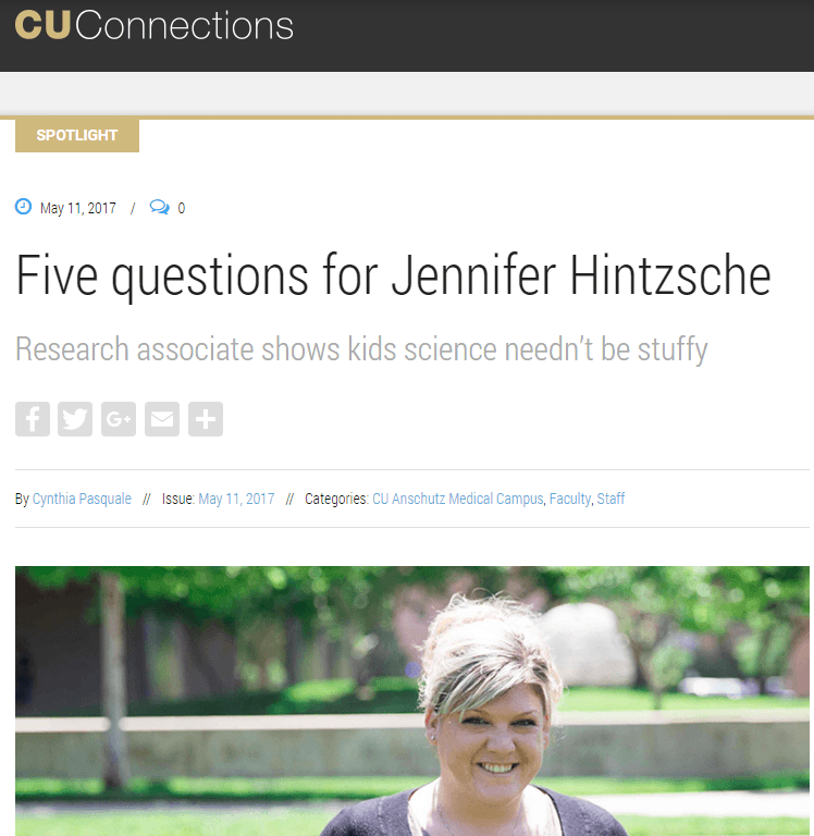 Five Questions for Jennifer