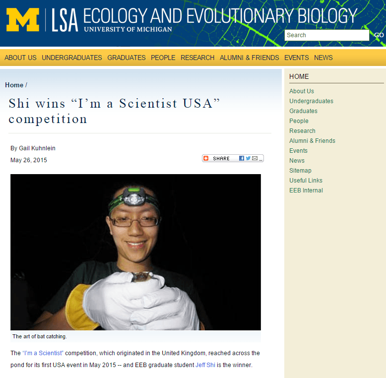 University of Michigan article