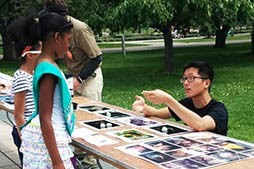 Jeff Shi outdoor Bat outreach
