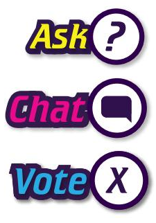 ASK CHAT VOTE I'm a Scientist science education activity